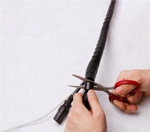 003018 Organizador para cables en aspiral Techmade de 2,5 mt agrupa y organiza