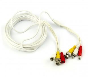Cable para la señal de audio y video de cámaras BNC RCA 10 metros