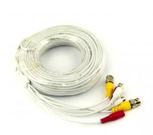 Cable para la señal de audio y video de cámaras BNC RCA 20 metros