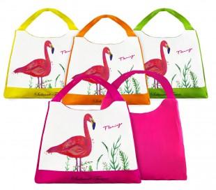 424117 Bolso de playa Sabrina Tenori Flamingo con doble asa de varios colores