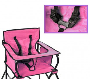 321546 Silla de camping para bebés ONSHORE con bolsa de transporte ROSA