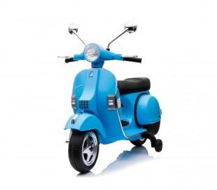 LT887 Moto eléctrica PIAGGIO para niños VESPA PX con ruedas 12V luces led