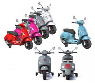 B70592 Moto eléctrica PIAGGIO para niños VESPA GTS con ruedas LED 12V