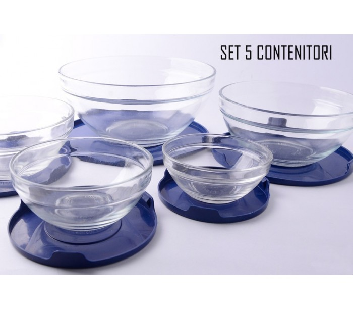 Set 5 envases de vidrio cocci n para cocinar para almacenar los alimen - Recipientes para alimentos ...