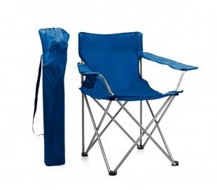480718 Silla plegable con portavasos JOY SUMMER playa camping piscina AZUL