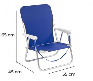 480510 Silla plegable de playa JOY SUMMER para camping piscina jardín
