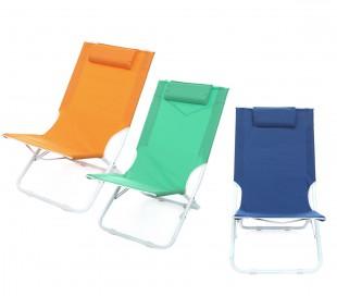 441030 Tumbona plegable JOY SUMMER Textilene con cojín tubular 22