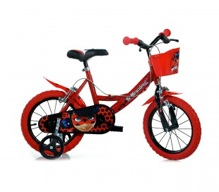 Bicicleta para niños DINO BIKES 144 R-LB talla 14 MIRACULOUS edad de 3 a 6 años
