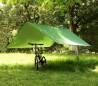 10745 Toldo para hamaca de suspensión para acampar con clavijas y cuerdas