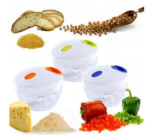 Trituradora manual cuerda EN-20604 mezcla y tritura alimentos