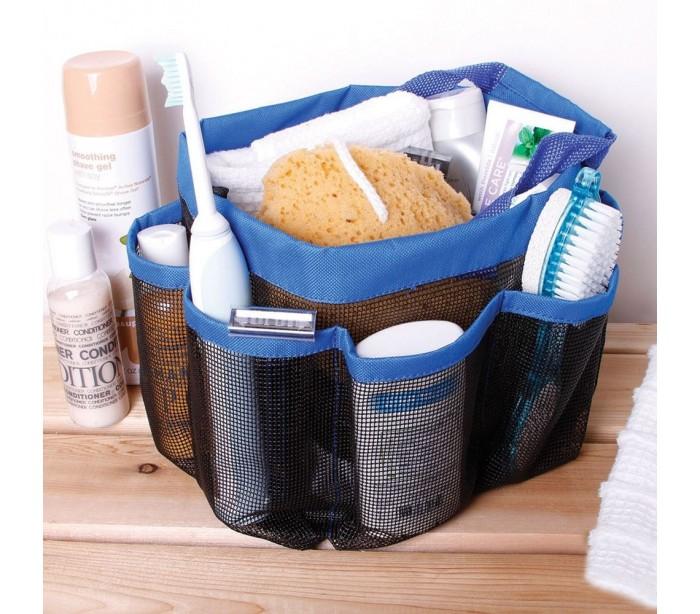 Bolsa organizador 8 multibolsillos ducha con una malla for Organizador para ducha