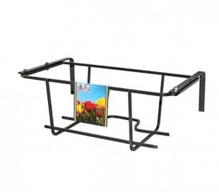Florero de balcón TULIPANO 22x50x18 cm ARTIGIAN FERRO Art 750.B ajustable