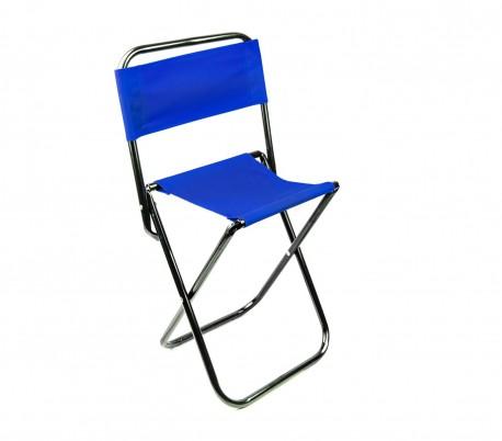 261682 Taburete plegable EVERTOP para acampar en la montaña o playa con respaldo