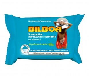 Paquete de 10 toallitas menta Bilboa refrescantes e hidratantes después del sol