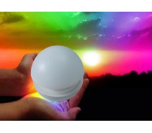 Lámpara cromoterapia mesita mod. FUNGO se enciende presionandola RGB multicolor