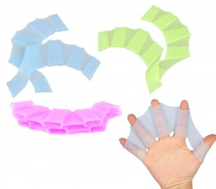 Pack de 5 pares guantes de silicona con forma de aletas para nadadores Snorkel