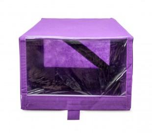112885 Caja para zapatos TNT línea WELKHOME 22,5x35x15,5 cm con ventana y velcro