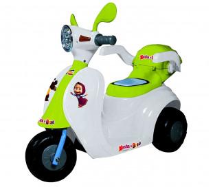 GVC-7214 SCOOTER MASHA y OSO para niños con faro, luces, sonidos y baúl