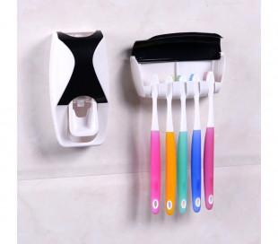 178545 Dispensador automático SHUAI para cepillo y pasta de dientes dif. colores