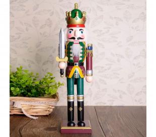 831003 Soldado decorativo ESPADA 30 cm hecho de madera pintada a mano
