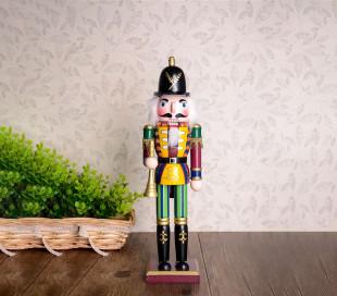 831010 Soldado decorativo ESPADA 30 cm hecho de madera pintada a mano