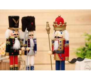831027 Soldado decorativo ESPADA 30 cm hecho de madera pintada a mano