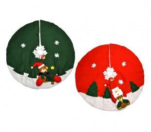 030710 Alfombra cubre base circular  para el árbol de Navidad de 100 cm diámetro
