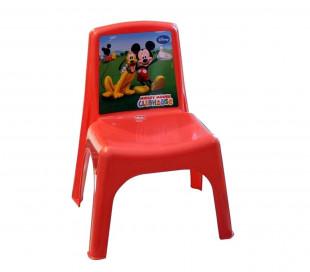 084113 Silla Bildo e infantil de plástico coloreado Mickey Mouse 43x26x24 cm
