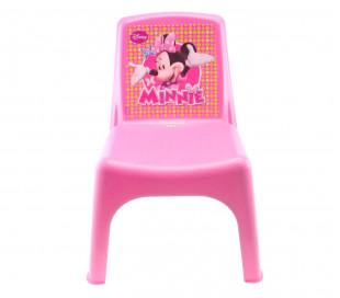 084106 Silla Bildo e infantil de plástico coloreado Minnie 43x26x24 cm