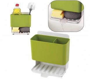871049 Organizador de cocina para detergente y estropajo con sistema derenaje