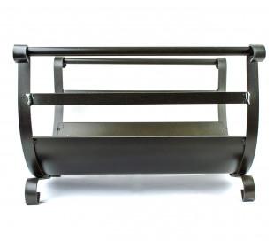 Soporte para leña de hierro forjado BUDAPEST Artigianferro art 603 40x35x29cm