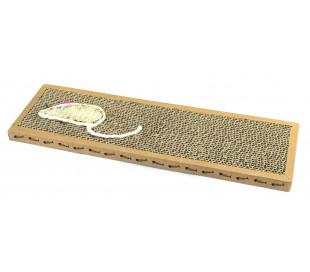 Rascador NOBLEZA para gatos de cartón perfumado 38x12.5x2 cm MOUSE BOX