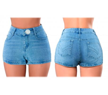 Shorts tejanos cortos ajustados para mujer modelo FORBIDDEN ZONE varias tallas