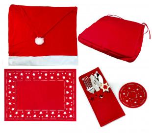637388 Conjunto de 4 pack de 7PZ para la decoración de la mesa navideña NATALUNA