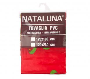 479025 Mantel PVC ROJO Nataluna resistente a las manchas modelo árbol de Navidad