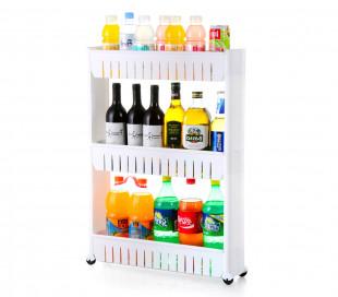 Organizador de productos deslizante con ruedas 4 estantes para cocina y/o baño