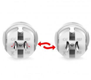 Adaptador para enchufes internacionales de 125V 6A a 250V 13A 16 modos