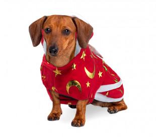 Vestido de navidad con estampado de estrellas y luna para nuestros animales