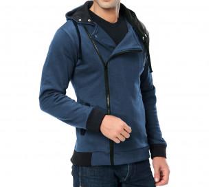 Chaqueta sudadera hombre Mod.REVENGE laterales con cremallera y capucha