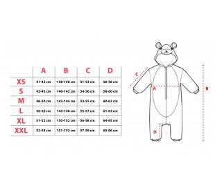 Pijama UNISEX entero de felpa Cosplay Animal Canguro tallas de la XS a la XL