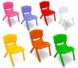173710 Silla de plástico resistente para niños en varios colores 26x30x50 cm