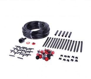 801001 Kit de micro irrigación 71 PZ GARDEN con manguera de 23 mtrs