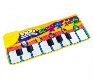 Alfombra interactiva Piano Juego musical para niños 71x29cm TECLADO
