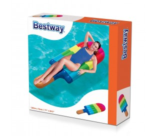 43187 Colchoneta inflable gigante Candy Lounge BESTWAY 190 x 105 cm