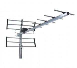 Antena de TV UHF DVB-T Digital terrestre XJ016 15 DB HD 14 elementos anti-viento