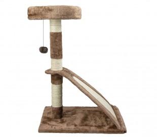 026449 Rascador madera CLIMBING NOBLEZA cuerda y pelota de dos pisos 37x37x46cm