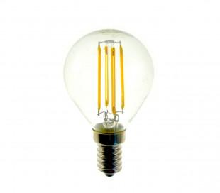 GLED1273 Bombilla STARKEN minisfera 3.6W filamento LED G45 Luz fría 6500K E14