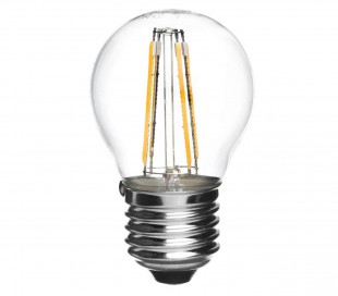 GLED1265 Bombilla STARKEN minisfera 3.6W filamento LED G45 Luz neutra 4200K E14
