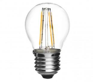 GLED1262 Bombilla STARKEN minisfera 3.6W filamento LED G45 Luz cálida 2900K E27