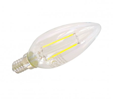 C35 GLED1272 Bombilla STARKEN 2W LED Oliva C35 Luz fría 6500K E14 30000 horas